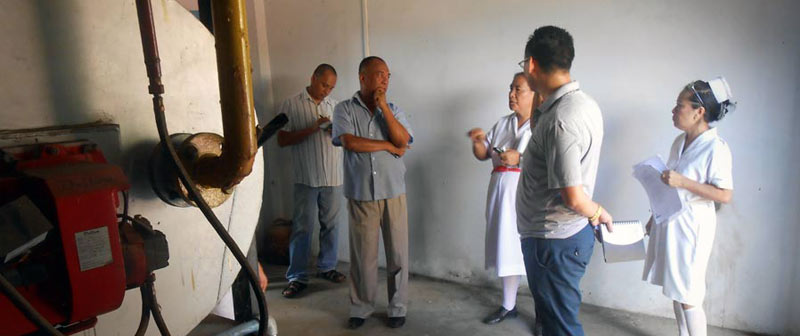 NPCB official along with AG team inspecting the Dimapur Civil Hospital for Bio-Medical waste management