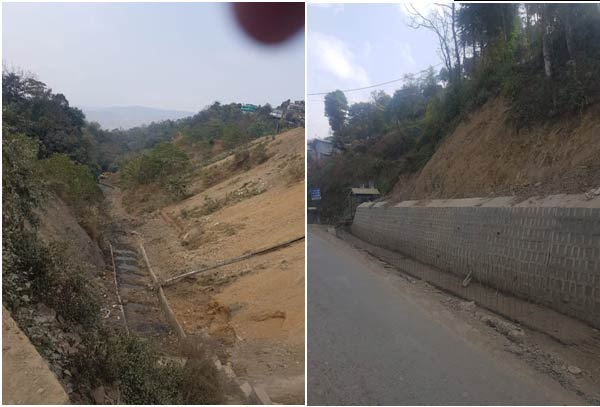 Rivulets and roads and drains being constructed with proper engineering methods to channelize water
