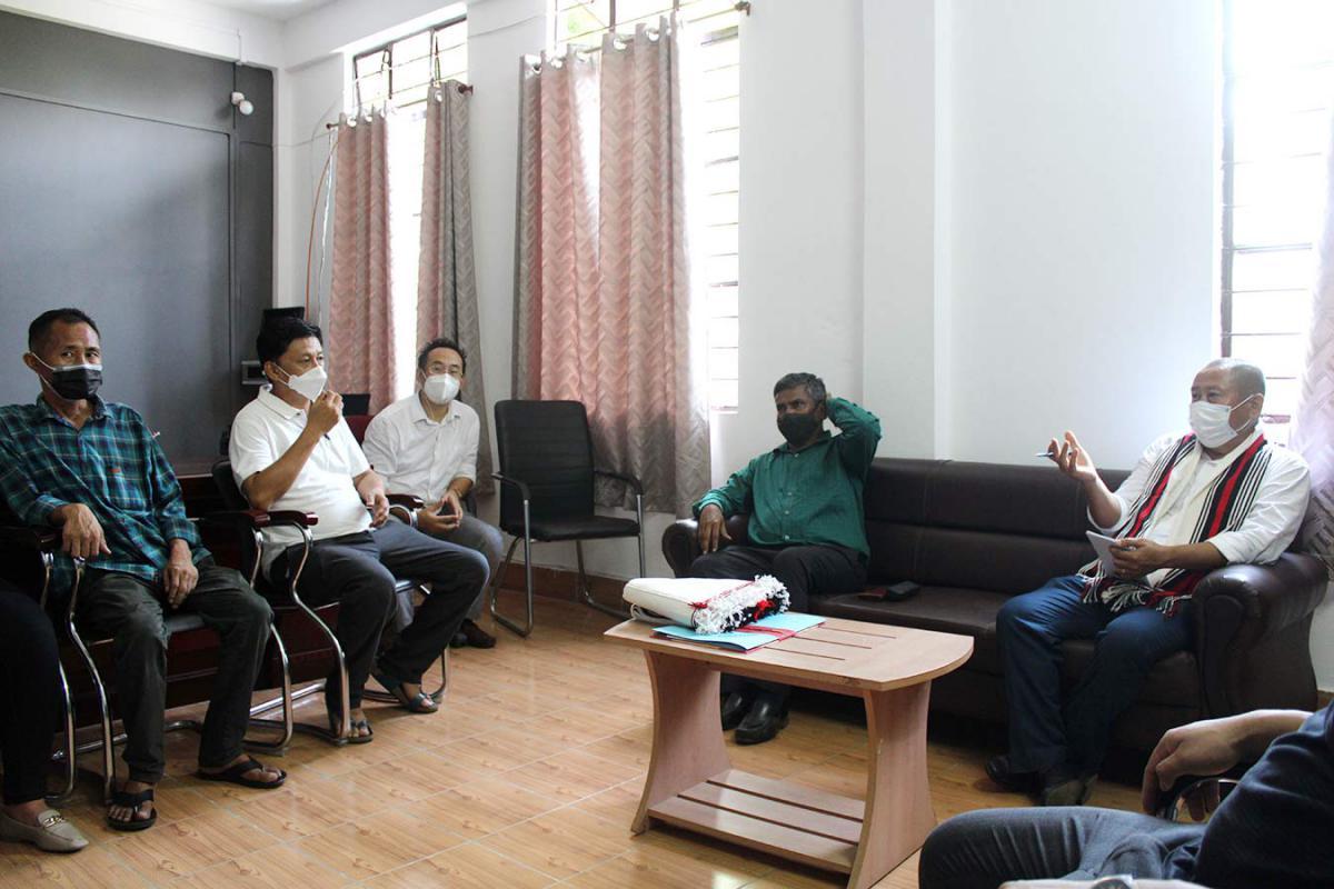 Shri R. Ramakrishnan, IAS, Principal Secretary & Dr. Atsase Thongtsar, OSD to Minister, EFCC official visit to NPCB