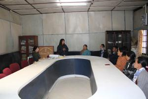 Interaction on waste management with the Officers and staffs of Zunheboto Town council.