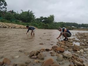 Sample Collection at Chathe River