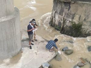 Sample collection at Dhansiri River
