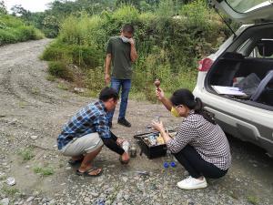 Water analysis at Dzuza River